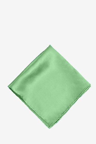 Peapod Green Pocket Square by Elite Solid -  Peapod green Silk