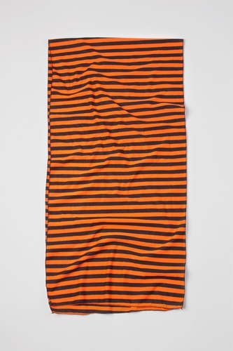 Mens Traveling Stripe Scarf by Ties.com Accessories -  Orange Polyester