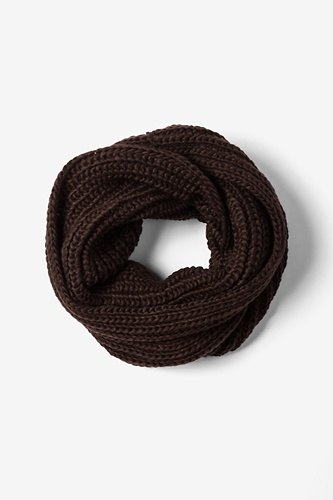 Brown Concord Knit Infinity Scarf by Ties.com Accessories -  Brown Acrylic