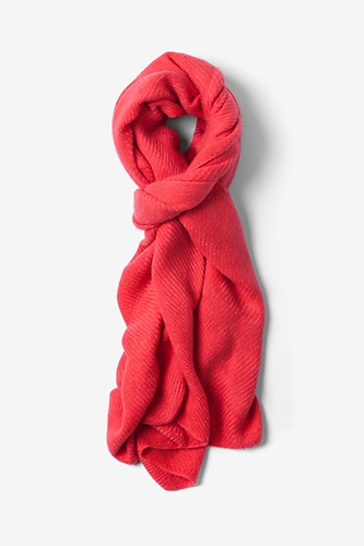 Coral Sheffield Scarf by Ties.com Accessories -  Coral Acrylic