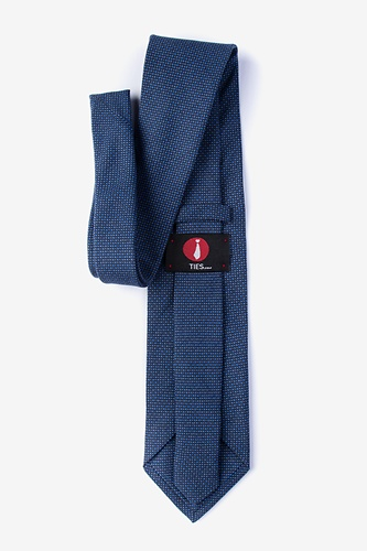 Chester Extra Long Tie by Ties.com -  Navy Blue Cotton
