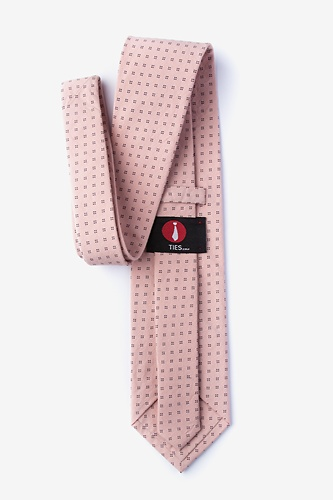 Ross Extra Long Tie by Ties.com -  Pink Cotton