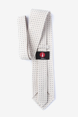 Ross Extra Long Tie by Ties.com -  Beige Cotton