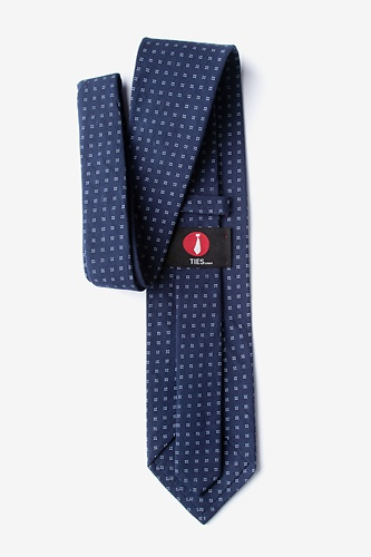 Ross Extra Long Tie by Ties.com -  Navy Blue Cotton