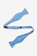 Crabs And Bubbles Butterfly Self Tie Bow Tie by Alynn Bow Ties