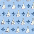 Sailboats & Compass Tie by Alynn