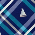 Woven Sailboats Plaid Tie by Alynn Novelty