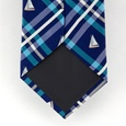Woven Sailboats Plaid Tie by Alynn