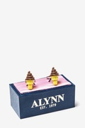 Chocolate Ice Cream Cone Cufflink by Alynn