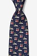 Christmas Lighthouses & Lobster Boats Tie by Eric Holch for Alynn Neckwear