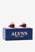 Strawberry Cupcakes Cufflink by Alynn