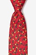 Christmas Horns Tie by Alynn