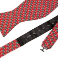 Micro Candy Canes Butterfly Self Tie Bow Tie by Alynn Bow Ties