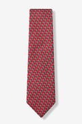 Micro Candy Canes Tie For Boys by Alynn Novelty