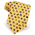 A-Z International Flags Tie by Alynn
